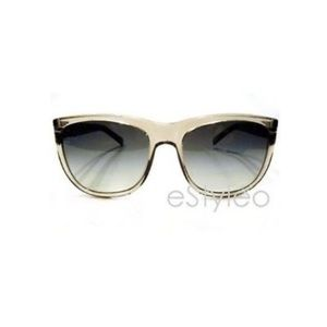 Club Monaco Women Clear Retro Sunglasses NEW